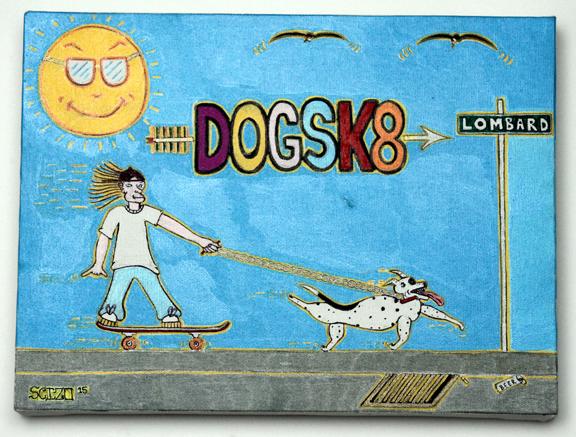 Dogsk8 canvas web